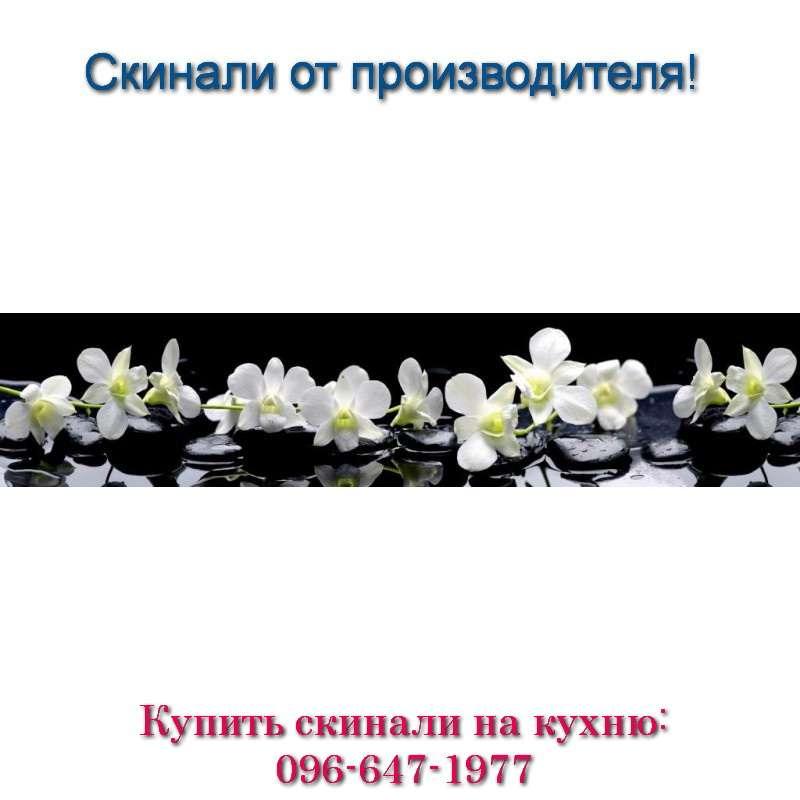 Скинали - Фото белых цветов на чёрном фоне