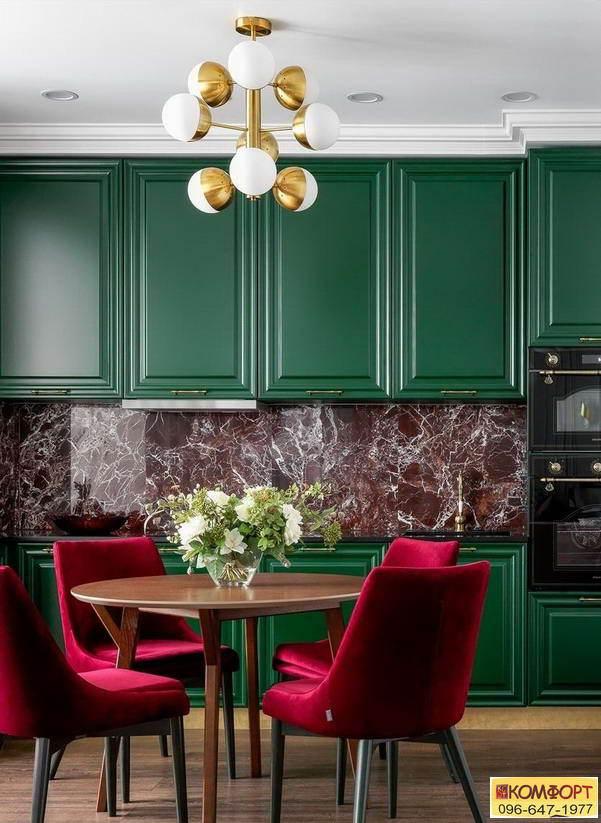 цвет кухни в дизайне